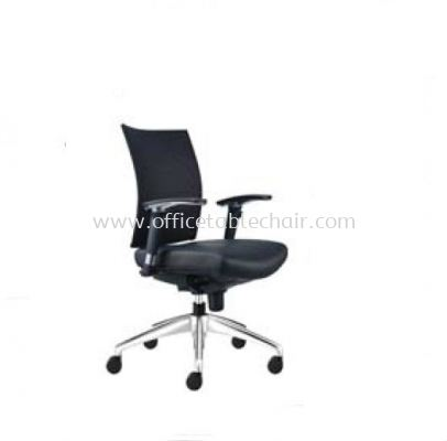 INCLUDE EXECUTIVE LOW BACK LEATHER CHAIR WITH ALUMINIUM DIE-CAST BASE ID 392L