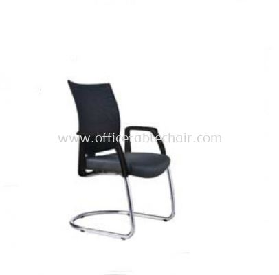 INCLUDE EXECUTIVE VISITOR CHAIR WITH CHROME CANTILEVER BASE ID 393L