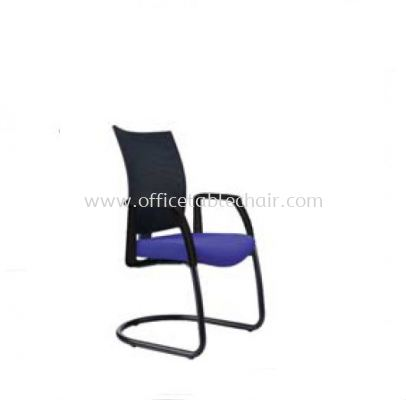 INCLUDE MESH VISITOR CHAIR WITH EPOXY BLACK CANTILEVER BASE ID393F