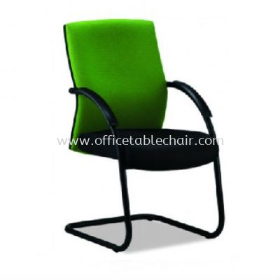 PANCO STANDARD VISITOR FABRIC CHAIR WITH EPOXY BLACK CANTILEVER BASE PC4