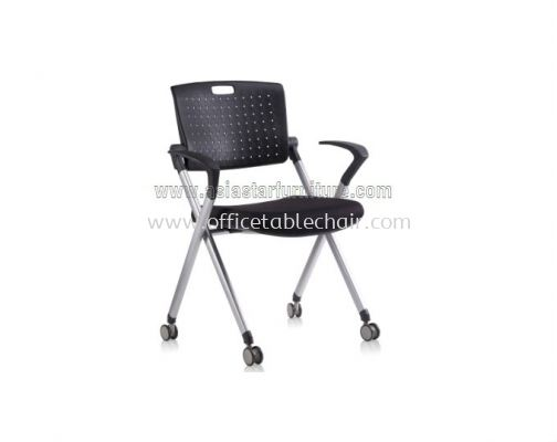 AEXIS 1 FOLDING CHAIR C/W CASTOR & ARMREST ACL 338