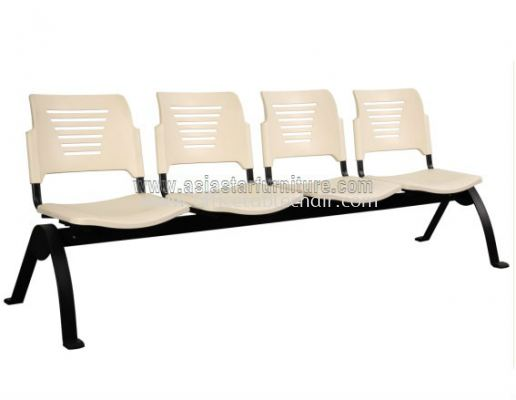 AEXIS PP 4 SEATER LINK CHAIR C/W EPOXY BLACK N-SHAPE METAL BASE ACL 56-4N