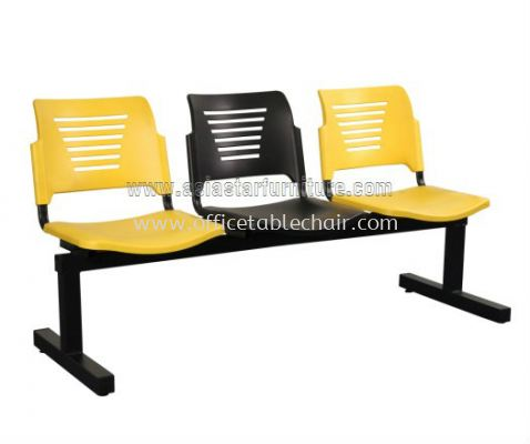 AEXIS PP 3 SEATER LINK CHAIR C/W EPOXY BLACK T-SHAPE METAL BASE ACL 56-3