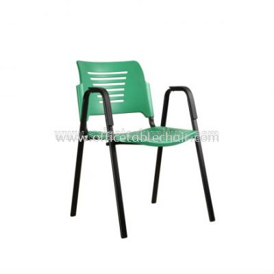 AEXIS PP CHAIR C/W ARMREST & 4 LEGGED EPOXY BLACK METAL BASE ACL 56-(A02)