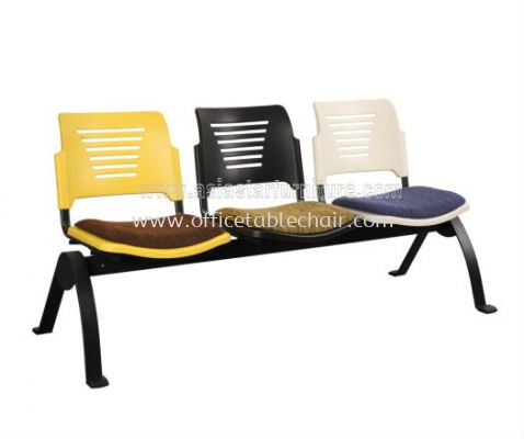 AEXIS PP 3 SEATER LINK CHAIR C/W EPOXY BLACK N-SHAPE METAL BASE ACL 56-3N