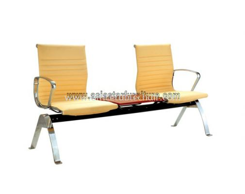 TWO SEATER LINK CHAIR WITH TABLE C/W CHROME METAL BASE ACL 8400-(3T)(TABLE)