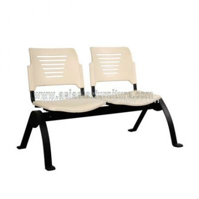 TWO SEATER LINK CHAIR C/W EPOXY BLACK METAL BASE ACL 56-2N