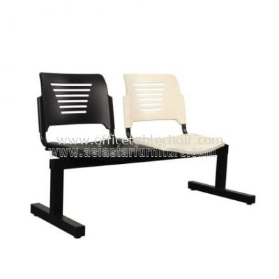 TWO SEATER LINK CHAIR C/W EPOXY BLACK METAL BASE ACL 56-2