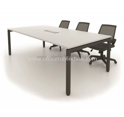 RECTANGULAR CONFERENCE TABLE WITH METAL N-LEG MUC2412