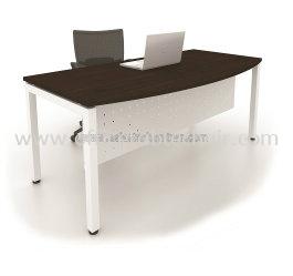 EXECUTIVE TABLE D-SHAPE METAL N-LEG C/W STEEL MODESTY PANEL MUME1890W