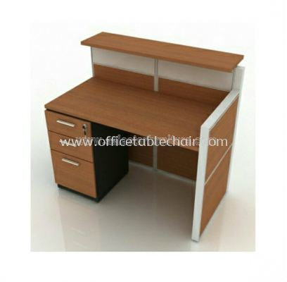 reception table with fixed pedestal