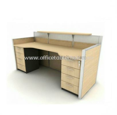 reception table with 2 fixed pedestal