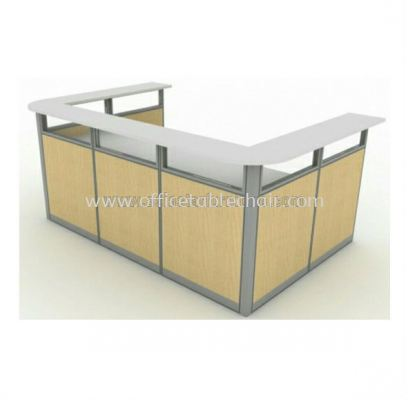 reception table with melamine finish
