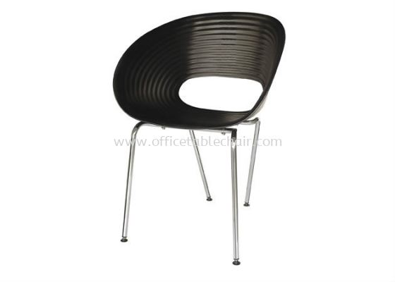 CAFETERIA PC CHAIR WITH CHROME LEG AS HH 59