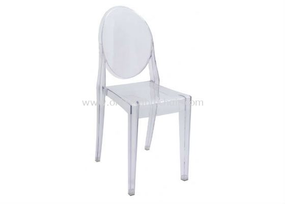 CAFETERIA PC TRANSPARENT GLASS CHAIR AS HH 448