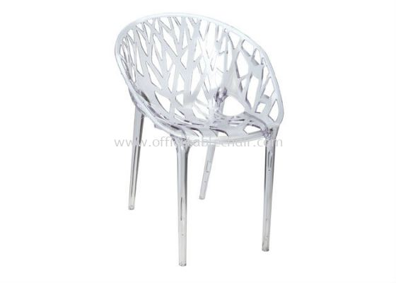 CAFETERA PC TRANSPARENT GLASS CHAIR AS HH 597