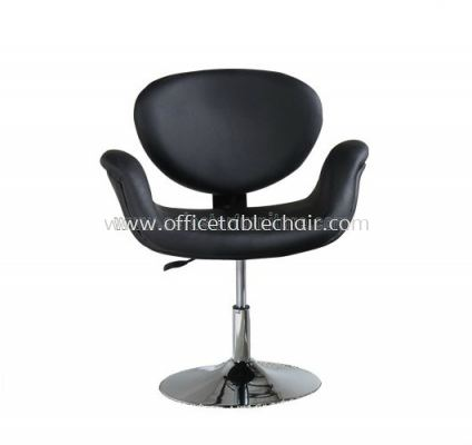 AS 408RC PU CHAIR WITH CHROME BASE