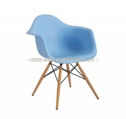 AS HH 311 PP CHAIR WITH WOODEN BASE