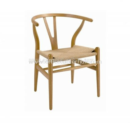 AS HH 541 WITH RATTAN SEAT CHAIR WITH BEECH WOOD FRAME
