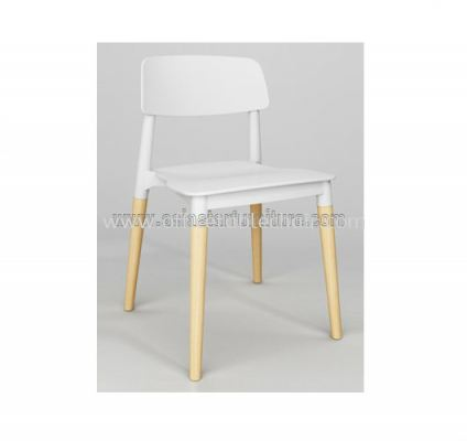 AS SC-018 PP CHAIR WITH BEECH WOOD LEG