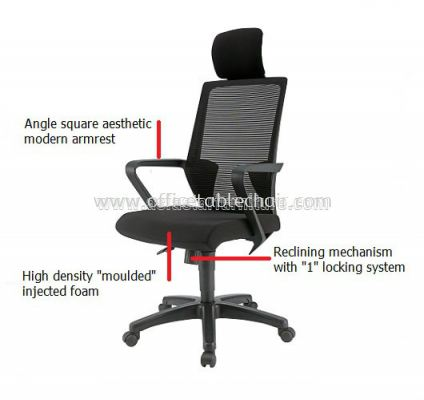 ASTER 1 HIGH BACK ERGONOMIC MESH CHAIR SPECIFICATION