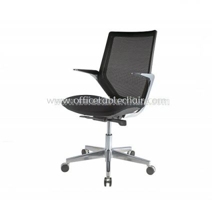 Z1 MEDIUM BACK ERGONOMIC MESH CHAIR WITH ALUMINIUM DIE-CAST BASE