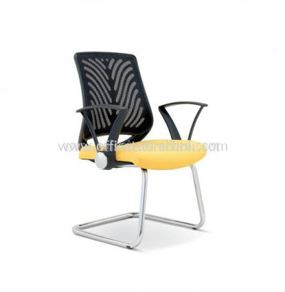 INSIST VISITOR MESH CHAIR WITH CHROME CANTILEVER BASE ASE 2625