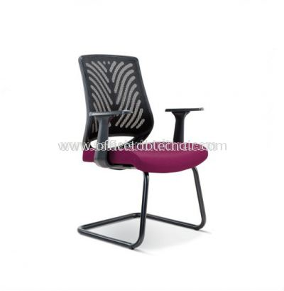 INSIST VISITOR MESH CHAIR WITH EPOXY BLACK CANTILEVER BASE ASE 2628