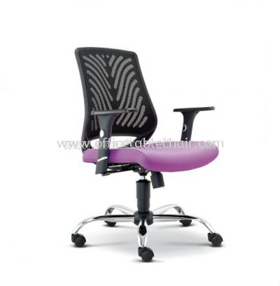 INSIST LOW BACK MESH CHAIR WITH CHROME METAL BASE ASE 2622