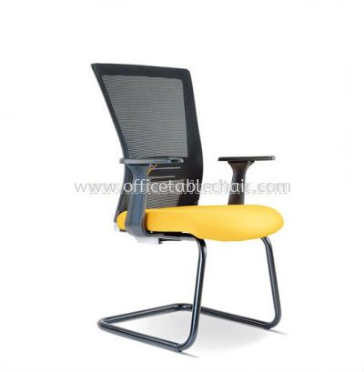 TALENT VISITOR MESH CHAIR WITH EPOXY BLACK CANTILEVER BASE ASE 2657