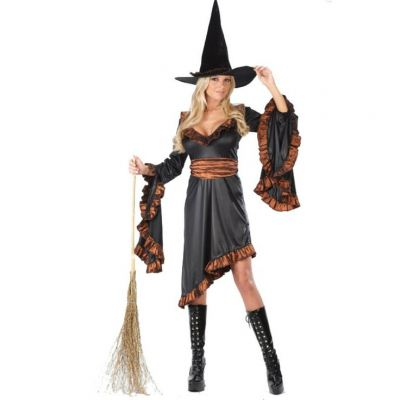 Adult Costume \ Ruffle Witch - 1244