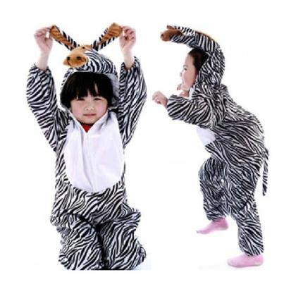 Kids zebra jumpsuit / pyjamas