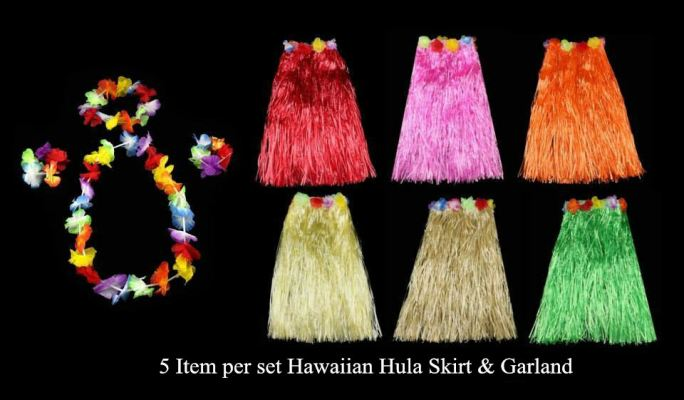 Hawaii Skirt 80cm 5 Item per set - 1018 1101