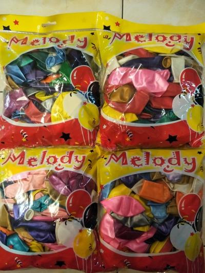 Metallic Latex Round Balloons 12 inch- 100's