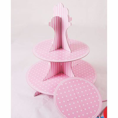 Cupcake stand 3 tier - Pink / Blue  2006 1801