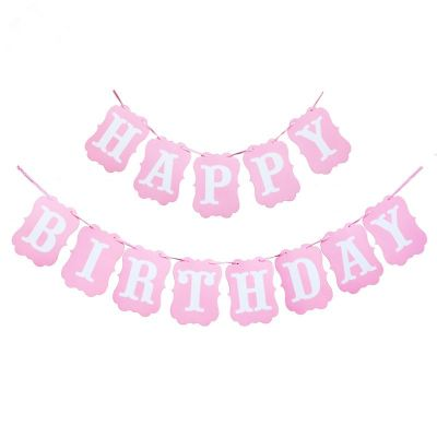 Happy Birthday Banner Card Shape 2 (2006 1303)