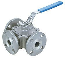 AUTOMA BALL VALVE BODY: SS304-316 3-PORT ANSI-150 JIS-10K