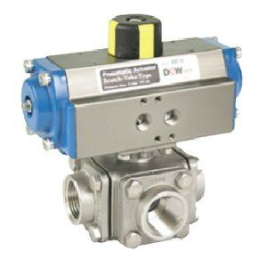 DV 4-PORT BALL VALVE ISO 5211 MOUNTING