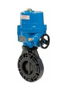 ELECTRIC ACTUATOR BUTTERFLY VALVE PVC/PP-BODY