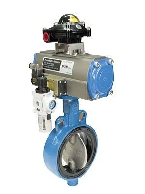PNEUMATIC ACTUATOR BUTTERFLY VALVE CI/DI BODY