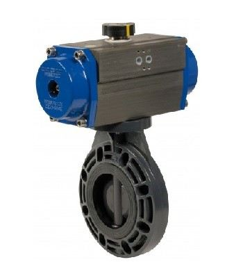 PNEUMATIC ACTUATOR BUTTERFLY VALVE PVC/PP-BODY