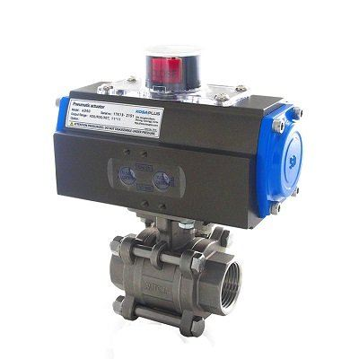 AUTOMA 3-PC BALL VALVE ISO 5211 MOUNTING #AT321B