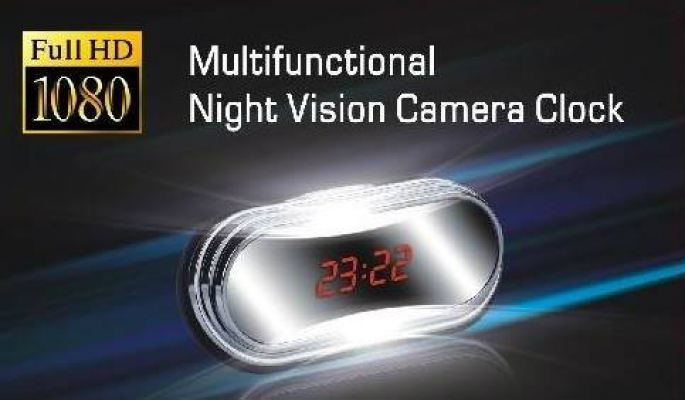 Full HD 1080P IR Night Vision Clock Camera DVR