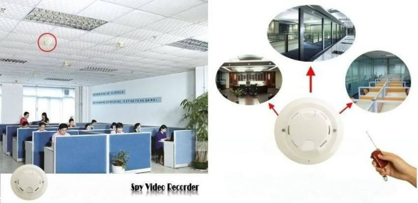 Hidden Camera Smoke Detector DVR with 4GB Memory