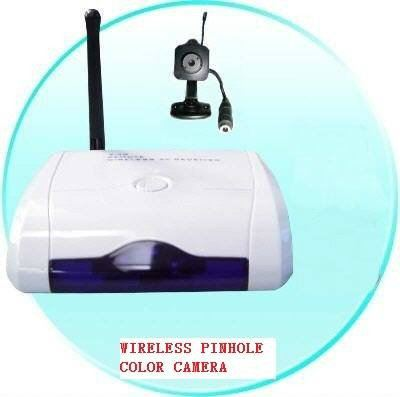 Wireless Audio/Video Pinhole Color Camera Plus