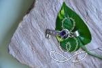Amethyst Pendant 1.5'' Key Purple Sterling Silver Pendants Crystals and Gemstones