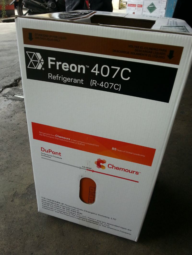 CHEMOURS FREON 407C X 10KGS HFC REFRIGERANT GAS (CHINA