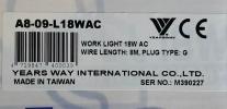 Taiwan Yearsway Work Light 18W AC ID447224    Tester / Working Light Electrical