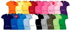 LADIES T-SHIRT - 76000L Pure Cotton T-Shirt
