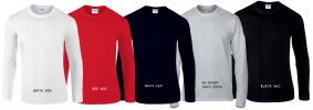 ADULT LONG SLEEVE T-SHIRT - 76400 Pure Cotton T-Shirt
